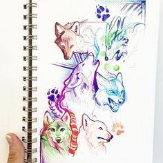 Wolf sketches!   #wolf #sketch #sketching #sketchbook #doodle #drawing #pen