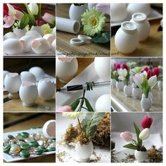 Use this for the Easter dinner, write names in them and make table placing of them (: happy holiday everybody ! #diy #idea #craft #planting #howto