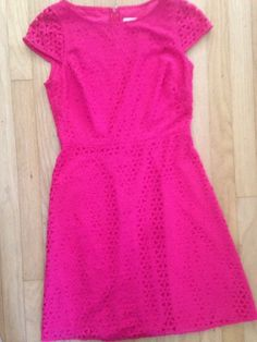 J. Crew Women's Laser Cut Cap Sleeve Pink Suiting Dress Career Wear Work 4  | eBay