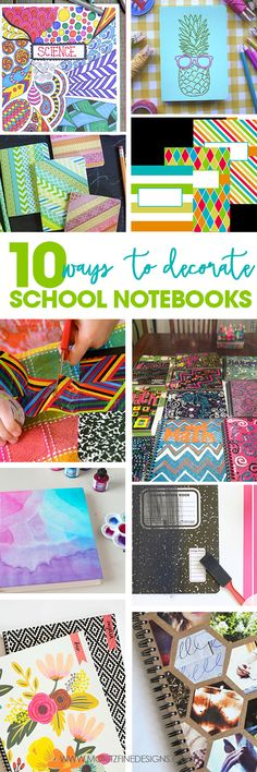Be the cool kid in school with awesome, creative notebooks. Enjoy these 10 Ways to Decorate School Notebooks.find the one that you love and craft away! Decorate Notebook, Diy Notebook, Diy Back To School, School Fun, School Ideas, Diy Craft Projects, Crafts For Kids, Arts And Crafts, Decorate School Supplies