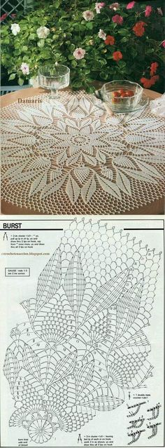 Crochet is one of the most versatile crafts to decorate the home. You can use it to make rugs, tablecloths or simply a crochet centerpiece to match the Free Crochet Doily Patterns, Crochet Doily Diagram, Crochet Lace Edging, Thread Crochet, Filet Crochet, Crochet Flowers, Crochet Hat Tutorial, Crochet Dreamcatcher, Crochet Dollies