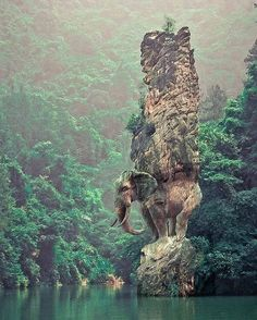 Fotka: Elephant rock in China.  Please Follow:- +Interesting Things