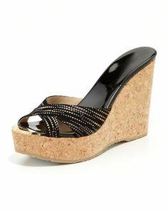 3e90b3fb0c4 Perfume Crisscross Suede Wedge Sandal