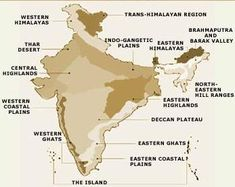 India Physiography - The Indian Peninsular Plateaus Physiography of India The Peninsular Plateau Largest of India's