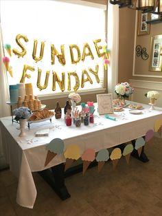 Girl Birthday Themes, 4th Birthday Parties, Birthday Kids, Ice Cream Theme, Ice Cream Party, Sundae Party, Icecream Bar, Ice Cream Social, Halloween