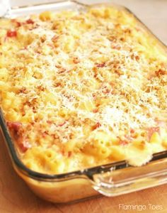 Spicy Baked Macaroni and Cheese with Ham Ham Mac And Cheese, Macaroni Cheese, Casserole Recipes, Pasta Recipes, Cooking Recipes, Baked Macaroni, Hungarian Recipes, Comfort Food, Breakfast Time