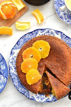 Simple comme un gâteau de polenta à l'orange sanguine