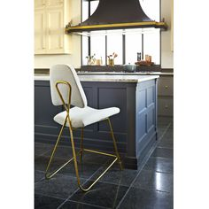 Range hood and great cabinet colors. Maxime - Maxime Counter Stool