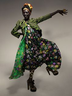 Nigerian Fashion Week ~ Duro Olowu, Designer,  For more of his fabulous work, look on my Women's Fashion SS2013 and FW2013 boards