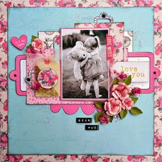 My Creative Scrapbook: February 2015 Main Kit Authentique Crush Layout by Michelle McDonald.