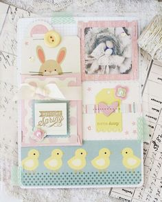 Easter Bunny Layout by Melissa Phillips for Papertrey Ink (May 2014)