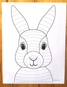 Art with Mrs Filmore – Adventures in the Art Room This lesson took 40 minute art classes to finish and incorporates the Elements of Art- Line, Shape, Color, Value… Bear Template, Bunny Templates, Elements Of Art Line, Arte Elemental, Lapin Art, Spring Art Projects, 2nd Grade Art, Value In Art, Bunny And Bear