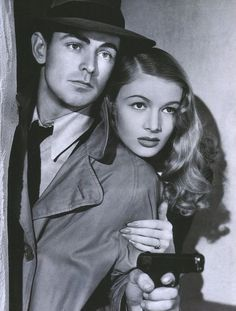 """Alan Ladd and Veronica Lake in, """"This Gun for Hire"""" (1942)"""