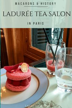 Ladurée has some of the best macarons in Paris. This location was the city's first tea room for women in an era they weren't allowed into cafes. via /lajollamom/