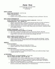 Samples Resume For Recent College Graduate Cover Letters College Objectives  For Resumes For College Students Resume Builder