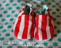 thatssewnina: Cloth Baby Shoe - Free pattern and step by step Photo tutorial - Bildanleitung und gratis Schnittvorlage