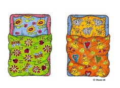 Karen`s Paper Dolls: Beds and Pools to Print in Colours. Senge og badebassiner…