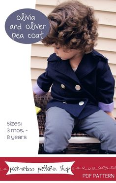 Image of Olivia and Oliver Pea Coat: Sizes 3 mos.-8 years