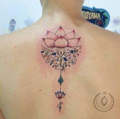 Intricate Lotus Flower Tattoo by Marikuroyama