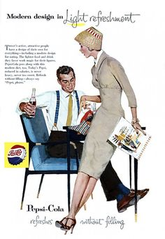 Just love the illustration in the old 1950s Pepsi ads.