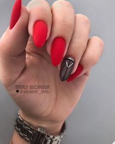 It is very suitable for red nail art design when celebrating festivals. Red nails are suitable for any shape and length of nails. Today, in this article, we will show you 69 Trendy Red Acrylic Nail Designs, whic Acrylic Nail Salon, Red Acrylic Nails, Matte Nails, Red Nails, Red Nail Art, Cool Nail Art, Red Nail Designs, Acrylic Nail Designs, Instagram Nails