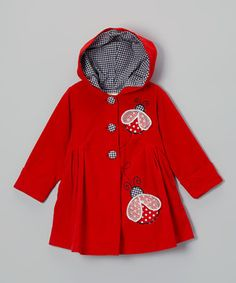 Look what I found on #zulily! Red Ladybug Coat - Toddler & Girls by Maria Elena #zulilyfinds