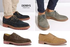 Four colours, four reasons why you need a pair of Derbys in your footwear collection.