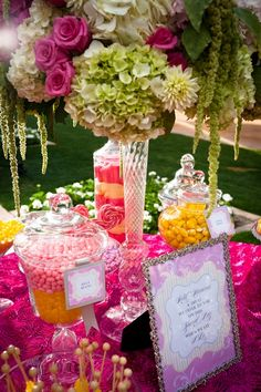 We love the pink+orange color scheme. From prettymyparty.com