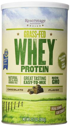 Reserveage Whey Protein - soy and grain-free and it's a complete protein (not just whey isolate). Also, comes from grass-fed cows and tastes GREAT!