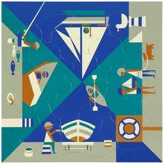 Puzzle multi-vue Fredun Shapur - Au bord de la mer Editions Piqpoq www.lepingouindelespace.com