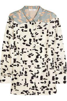 Chloé Printed silk-twill shirt NET-A-PORTER.COM