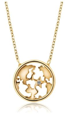 MagicPieces Hollow Out World Map Shape Necklace Fashion jewelry N0527 Best Price