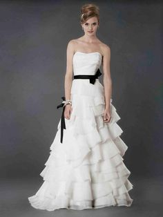 Black tie and white ruffles | Spring 2013 Collection by Alyne