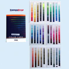 The worlds best known YKK zipper distributer since Shop and save now! Sewing Tools, Sewing Notions, Zipper Crafts, Off Colour, Color Card, Swatch, Notes, Fabric, Cards