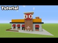Minecraft Tutorial: How To Make A Chip Shop Minecraft Stores, Minecraft Barn, Fnaf Minecraft, Minecraft City Buildings, Cute Minecraft Houses, Minecraft Houses Blueprints, Minecraft Room, Minecraft Plans, Minecraft House Designs