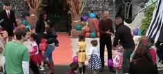 The First Family took time out to celebrate Halloween with young White House trick-or-treaters.