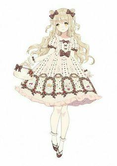 r anime lolita Anime Chibi, Kawaii Anime, Art Kawaii, Loli Kawaii, Chica Anime Manga, Anime Art, Anime Girl Cute, Beautiful Anime Girl, I Love Anime