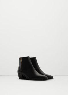 Кожаные ботинки в стиле вестерн