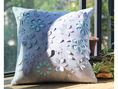 Comfortable Felt Back Cushion / Pillow with Laser-cut Flower| Buyerparty Inc.
