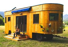 Live off the grid and rent-free in the charming Wohnwagon mobile caravan