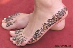 Foot-henna On Side And Toes Photo:  This Photo was uploaded by RaistRoxAgain. Find other Foot-henna On Side And Toes pictures and photos or upload your o...