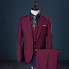 Markyi 2017 Famous Brand Mens Suits Wedding Groom Plus Size 5Xl 3 Pieces(Jacket+Vest+Pant) Slim