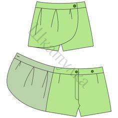 Patrón de la falda-pantalones cortos para las niñas
