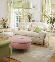 New spring collection Laura Ashley's living room  - Pastel colors
