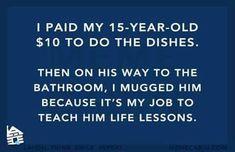 Teaching life lessons