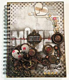 Tammy Henderson- Art Journal cover- February Challenge- - Creative Embellishments
