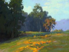 Poppy Trail by Kim Lordier Pastel ~ 12 x 16 Abstract Landscape, Landscape Paintings, Pinturas Color Pastel, California Art, Classic Paintings, Impressionist Art, Autumn Art, Pastel Art, Art Oil