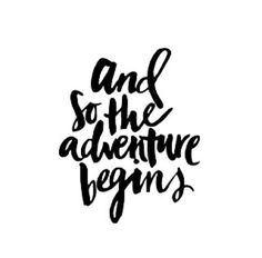 ....and so the adventure begins.