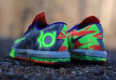 """This edition of the Nike KD VI goes by two nicknames, the """"Cool Grey"""" as it features a heavy dose of the color and """"Energy"""" as the colors and graphics plac Kd Shoes, Sock Shoes, Me Too Shoes, Running Shoes, Air Max Sneakers, Sneakers Nike, Kevin Durant Shoes, Nike Stuff, Best Basketball Shoes"""