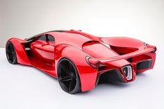 フェラーリの次期フラグシップマシン「フェラーリ・F80」のコンセプト・デザイン - DNA